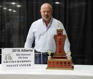 Alberta Elk Commission - 2018 Grand Champion Velvet Antler